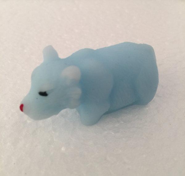 Mini hund blå squishy