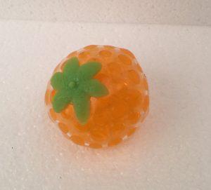 Squishy grape stressbold vandperler orange