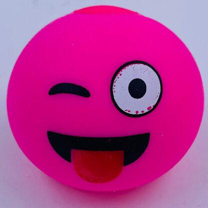 Stressbold med fræk emoji pink udsalg