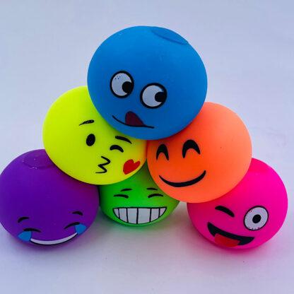 Stressbolde med emoji ansigter 6 forskellige udsalg