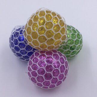 Stressbolde med vandperler og glimmer udsalg