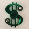 Fidget spinner dollar tegn krom grøn