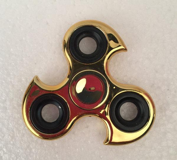 Fidget spinner - guld krom ninja