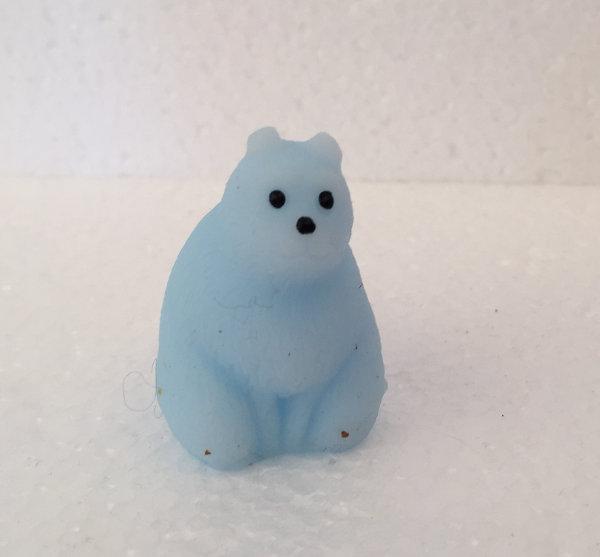 Finger squishy mini isbjørn lyseblå squishy