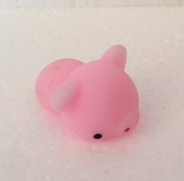 Finger squishy mini mus lyserød squishy