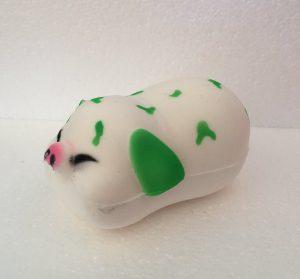 Gris med grønne pletter squishy