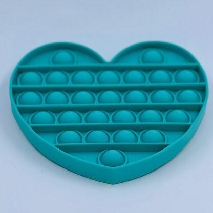 Pop it Fidget Toy Antistress hjerte grøn