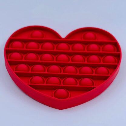 Pop it Fidget Toy antistress hjerte rød