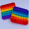 pop it fidget toy firkantet regnbuefarvet udsalg