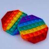 Pop it Fidget Toy Oktagon regnbuefarvet udsalg