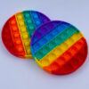 Pop it fidget toy rund regnbuefarvet udsalg