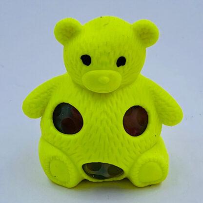 Squishy bamse gul med vandperler stressbold udsalg