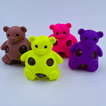 Squishy bamser fire farver med vandperler stressbold udsalg