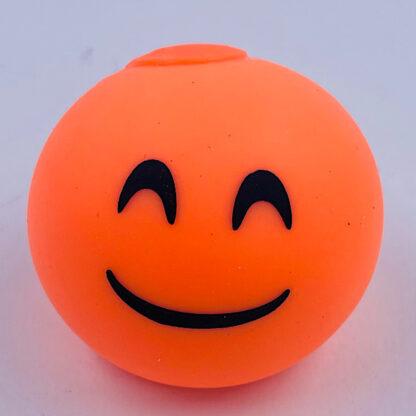 Stressbold med glad emoji orange udsalg