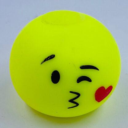 Stressbold med kysse emoji gul udsalg