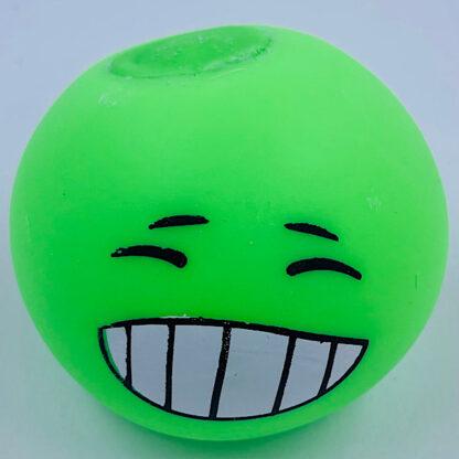 Stressbold med pinlig emoji ansigt grøn udsalg