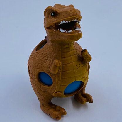 Dinosaurus stressbold brun med slim i maven udsalg