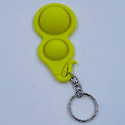 Simple Dimple nøglering gul Fidget Toy udsalg