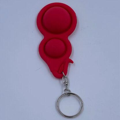 Simple Dimple nøglering rød fidget toy udsalg